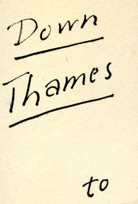 Down Thames letteringPNG
