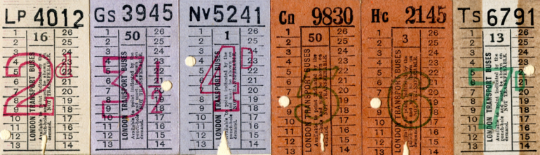 Bus tickets,2-65 PNG