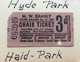 Hyde Park chair ticker PNG